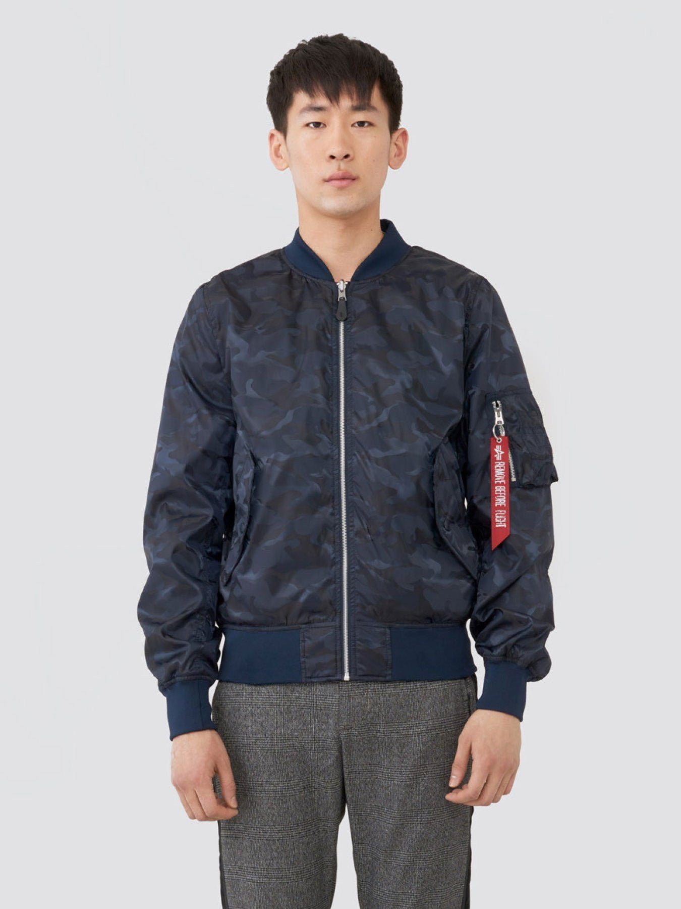L-2B SCOUT L.O. CAMO FLIGHT JACKET SALE Alpha Industries BLUE CAMO 2XL