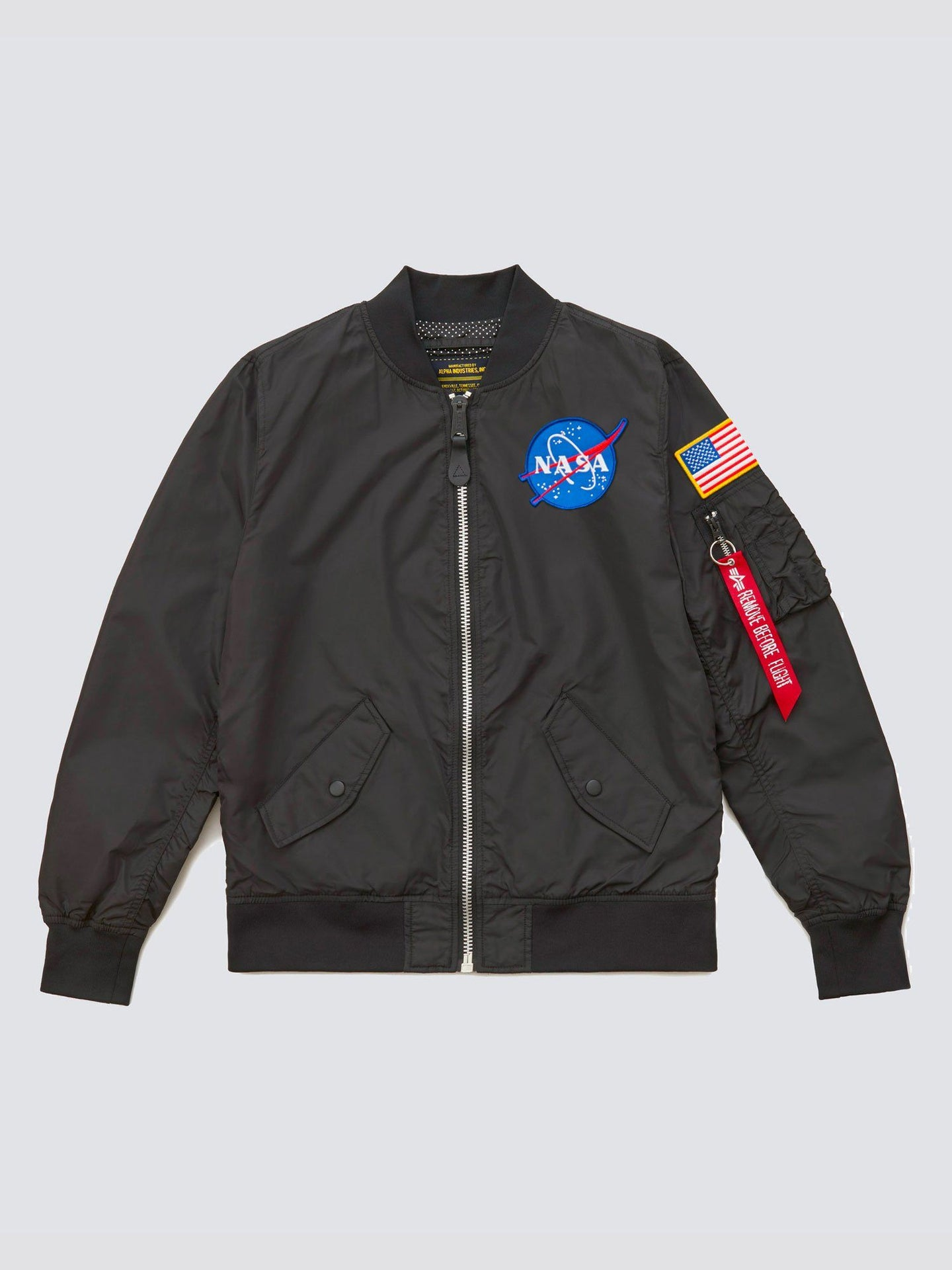 L-2B SCOUT NASA BOMBER JACKET W OUTERWEAR Alpha Industries BLACK L