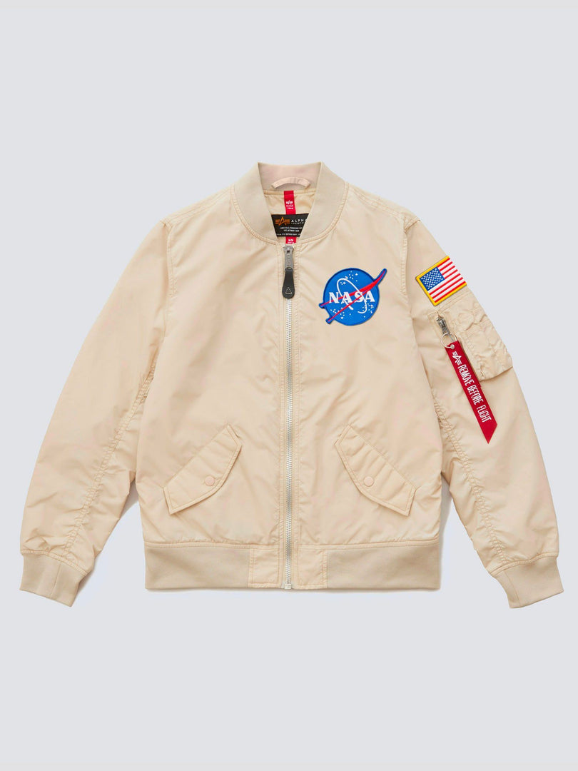 L-2B SCOUT NASA BOMBER JACKET W OUTERWEAR Alpha Industries VINTAGE WHITE L