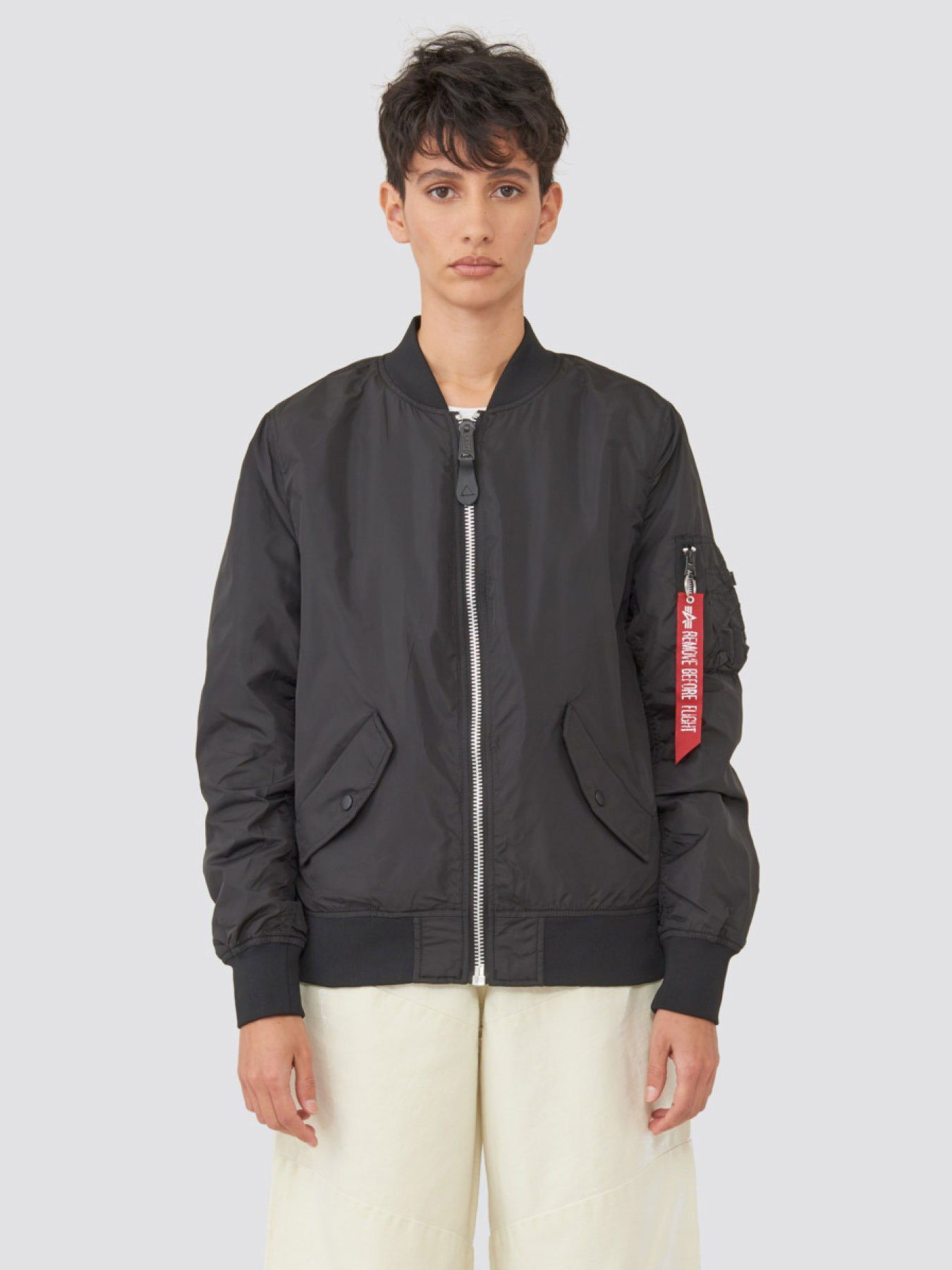 L-2B SCOUT W BOMBER JACKET OUTERWEAR Alpha Industries BLACK L