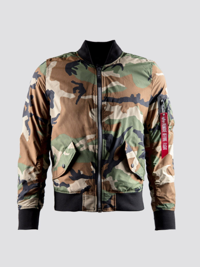 L-2B SCOUT W BOMBER JACKET (SEASONAL) SALE Alpha Industries LIGHT WOODLAND CAMO XS