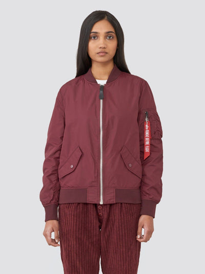 L-2B SCOUT W BOMBER JACKET (SEASONAL) SALE Alpha Industries MAROON XS