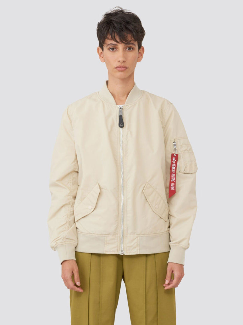 L-2B SCOUT W BOMBER JACKET (SEASONAL) SALE Alpha Industries VINTAGE WHITE XS