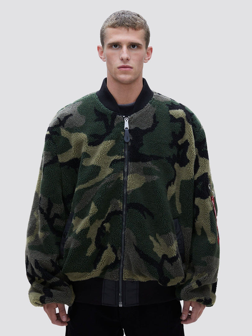 L-2B SHERPA LOOSE BOMBER JACKET SALE Alpha Industries WOODLAND CAMO 2XL