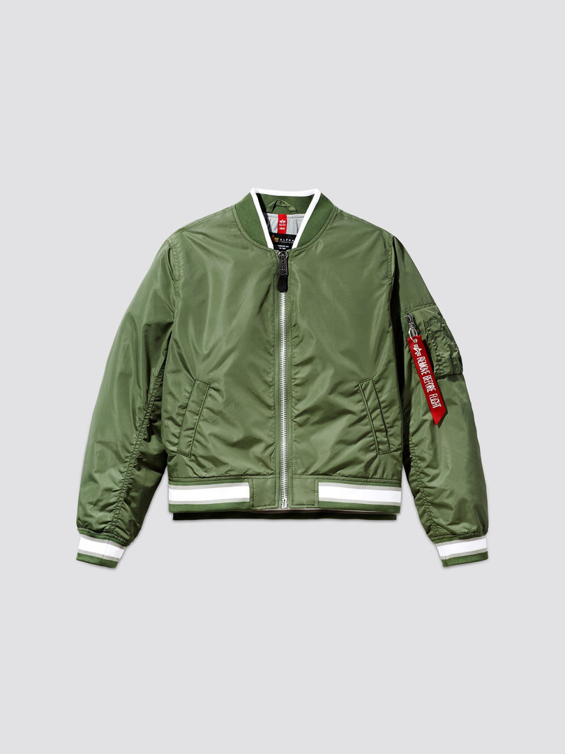 L-2B VARSITY CROPPED BOMBER JACKET W OUTERWEAR Alpha Industries, Inc.