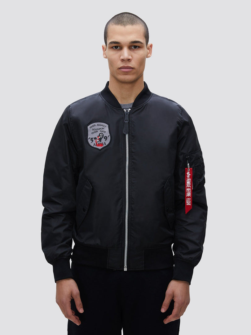 L-2B YEAR OF THE RAT BOMBER JACKET OUTERWEAR Alpha Industries, Inc. BLACK 2XL