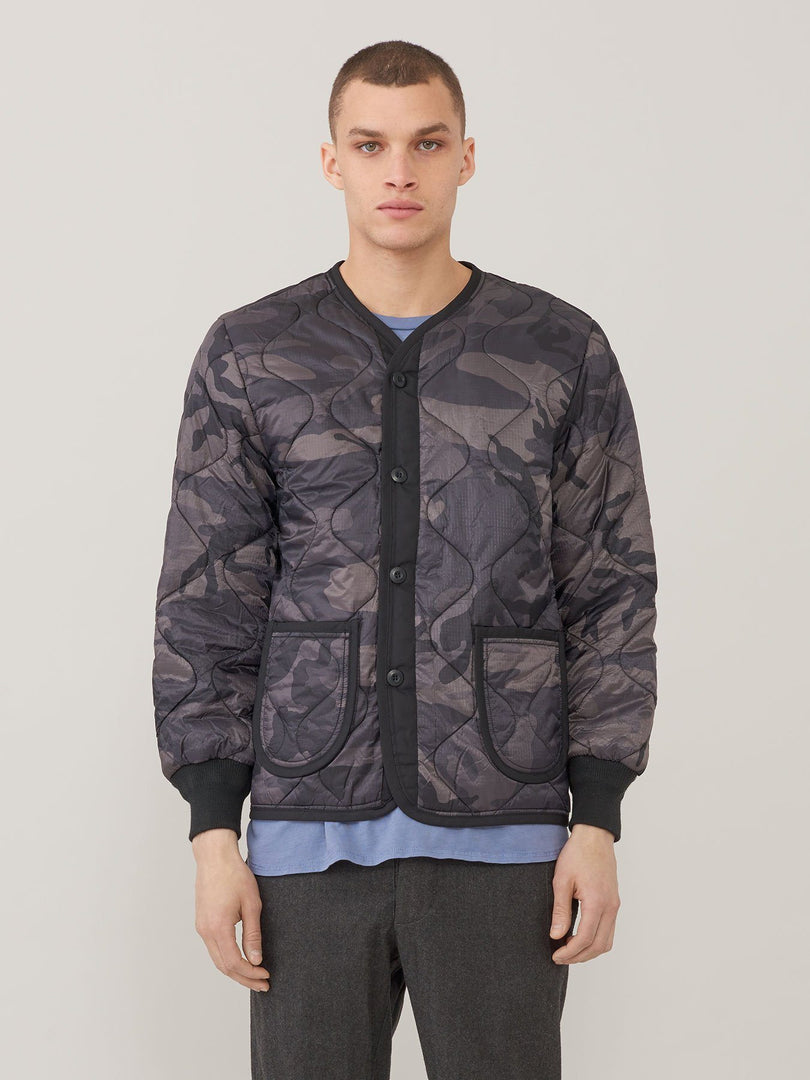 M-65 DEFENDER LINER OUTERWEAR Alpha Industries BLACK CAMO 2XL