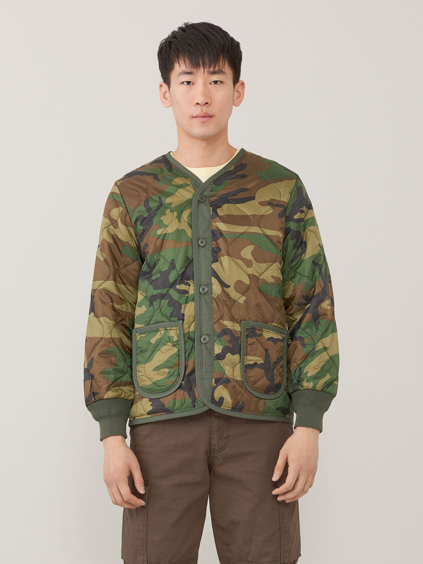 M-65 DEFENDER LINER OUTERWEAR Alpha Industries WOODLAND CAMO 2XL