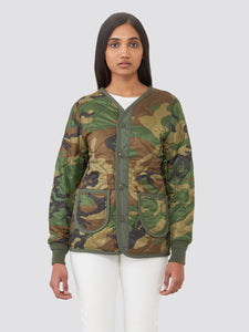 M-65 DEFENDER W LINER OUTERWEAR Alpha Industries WOODLAND CAMO L