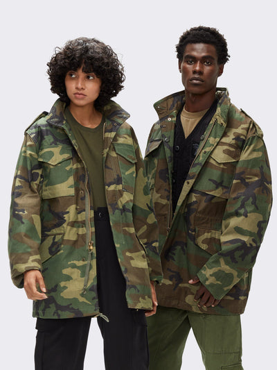 M-65 FIELD JACKET (HERITAGE) OUTERWEAR Alpha Industries WOODLAND CAMO 2XL-T