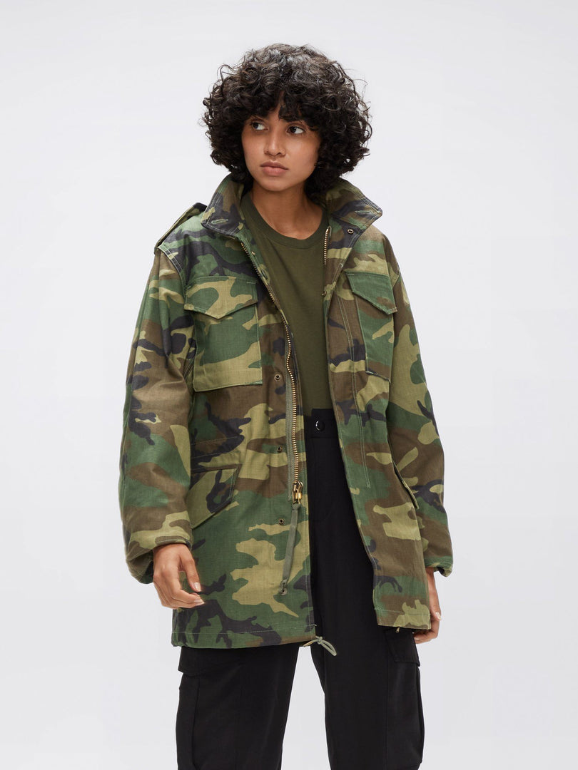 M-65 FIELD JACKET (HERITAGE) OUTERWEAR Alpha Industries WOODLAND CAMO XS