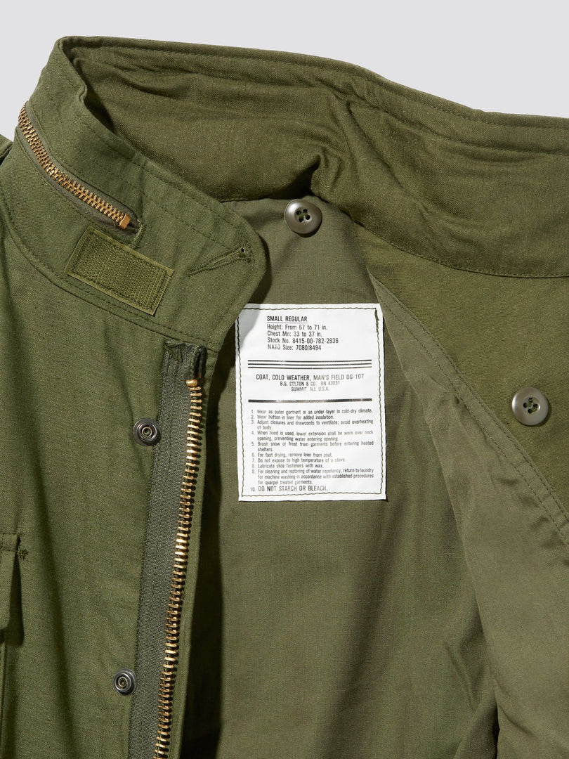 M-65 G FIELD COAT OUTERWEAR Alpha Industries, Inc.