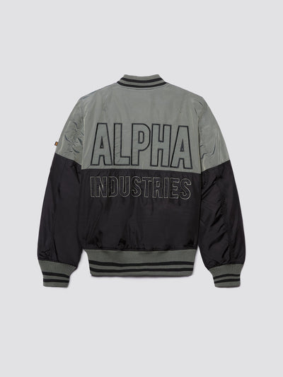MA-1 60TH ANNIVERSARY BLOCK BOMBER JACKET OUTERWEAR Alpha Industries VINTAGE GREEN 2XL