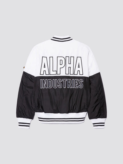 MA-1 60TH ANNIVERSARY BLOCK BOMBER JACKET OUTERWEAR Alpha Industries WHITE 2XL