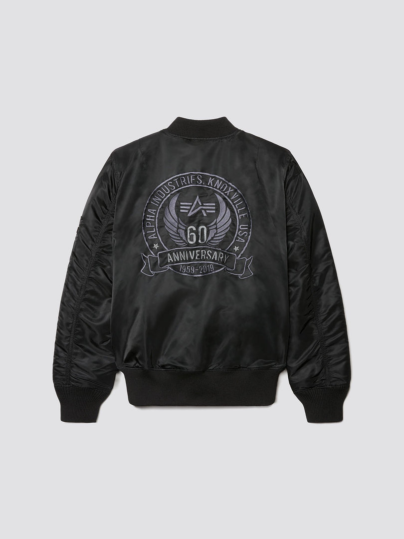 MA-1 60TH ANNIVERSARY BOMBER JACKET OUTERWEAR Alpha Industries BLACK 3XL