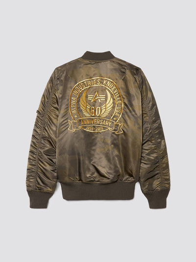 MA-1 60TH ANNIVERSARY BOMBER JACKET OUTERWEAR Alpha Industries DEEP OLIVE CAMO 3XL