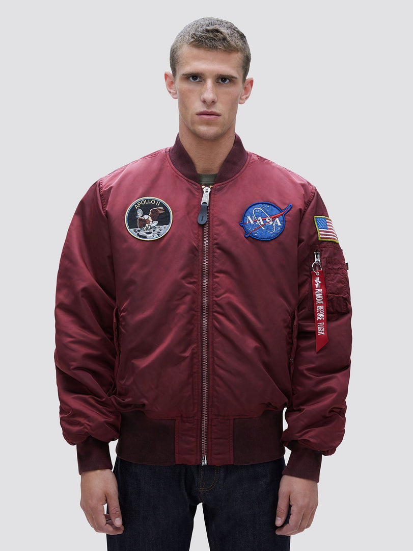 MA-1 APOLLO BATTLEWASH BOMBER JACKET OUTERWEAR Alpha Industries COMMANDER RED 2XL