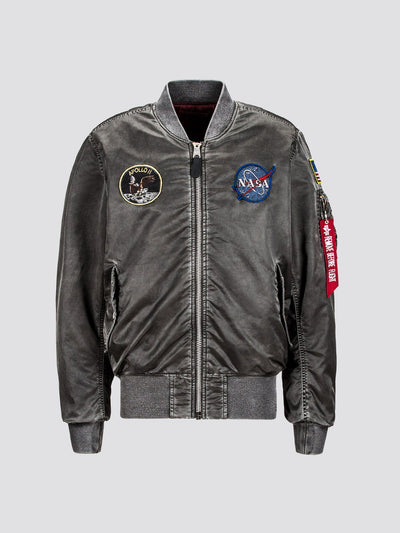 MA-1 APOLLO BATTLEWASH BOMBER JACKET (SEASONAL) SALE Alpha Industries NEW SILVER XS