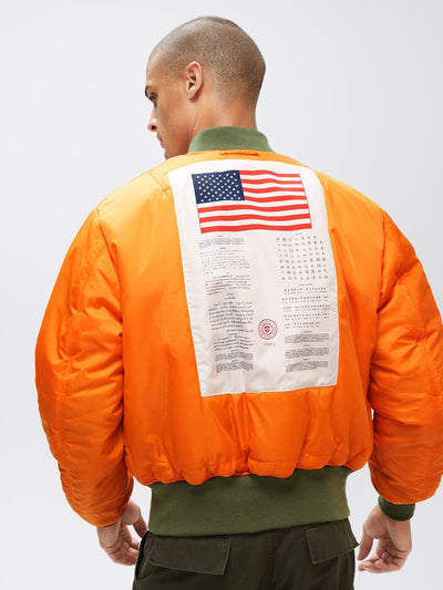 MA-1 BLOOD CHIT BOMBER JACKET OUTERWEAR Alpha Industries