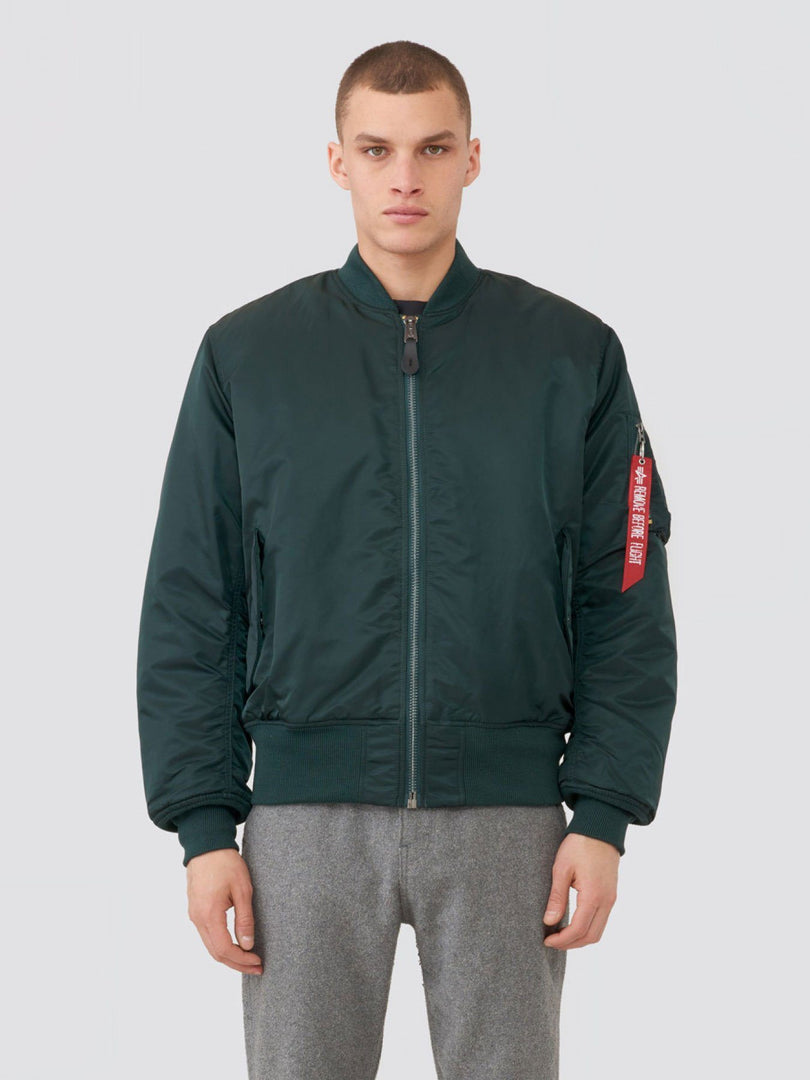 MA-1 BLOOD CHIT BOMBER JACKET OUTERWEAR Alpha Industries PATROL GREEN 2XL