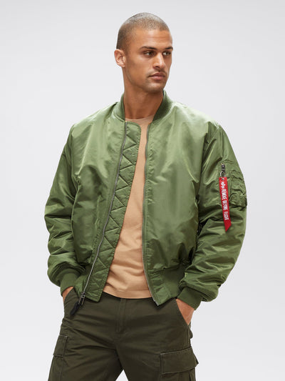 MA-1 BLOOD CHIT BOMBER JACKET OUTERWEAR Alpha Industries SAGE GREEN 2XL