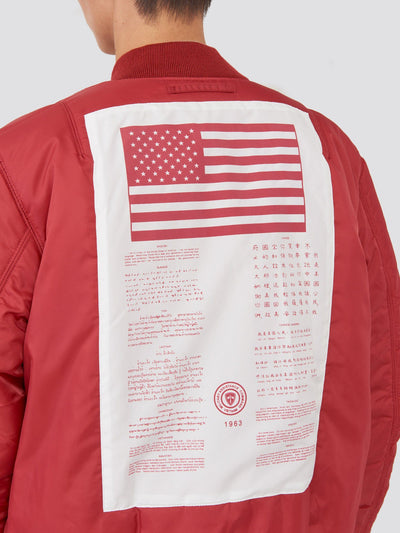 MA-1 BLOOD CHIT BOMBER JACKET W SALE Alpha Industries