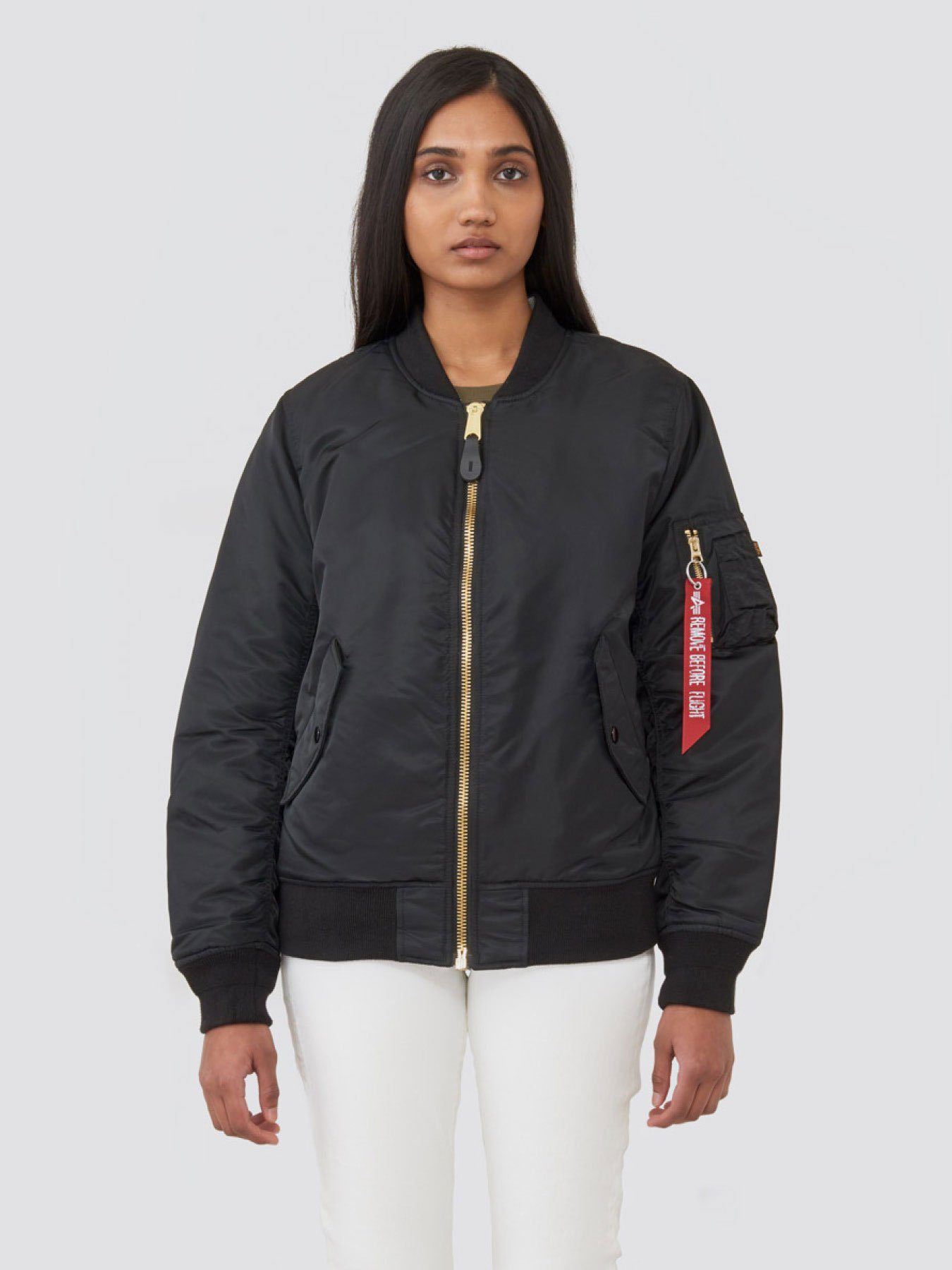 MA-1 BLOOD CHIT BOMBER JACKET W SALE Alpha Industries BLACK L