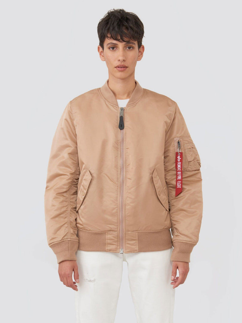 MA-1 BLOOD CHIT BOMBER JACKET W SALE Alpha Industries ROSE GOLD L