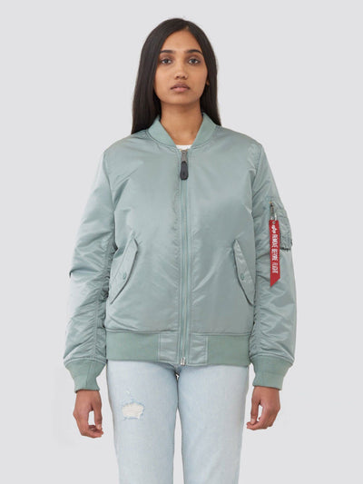 MA-1 BLOOD CHIT BOMBER JACKET W SALE Alpha Industries SILVER BLUE L
