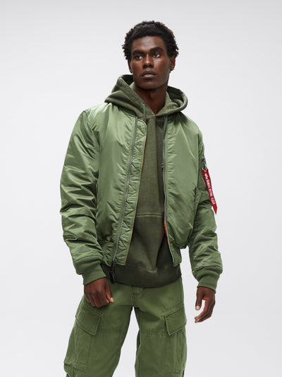 MA-1 BOMBER JACKET SLIM FIT OUTERWEAR Alpha Industries SAGE GREEN 2XL