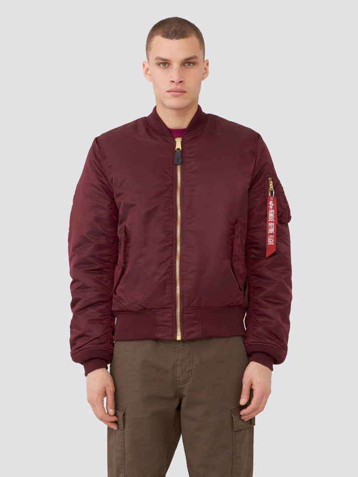 MA-1 BOMBER JACKET SLIM FIT/EUROPEAN FIT (SEASONAL) OUTERWEAR Alpha Industries MAROON XS