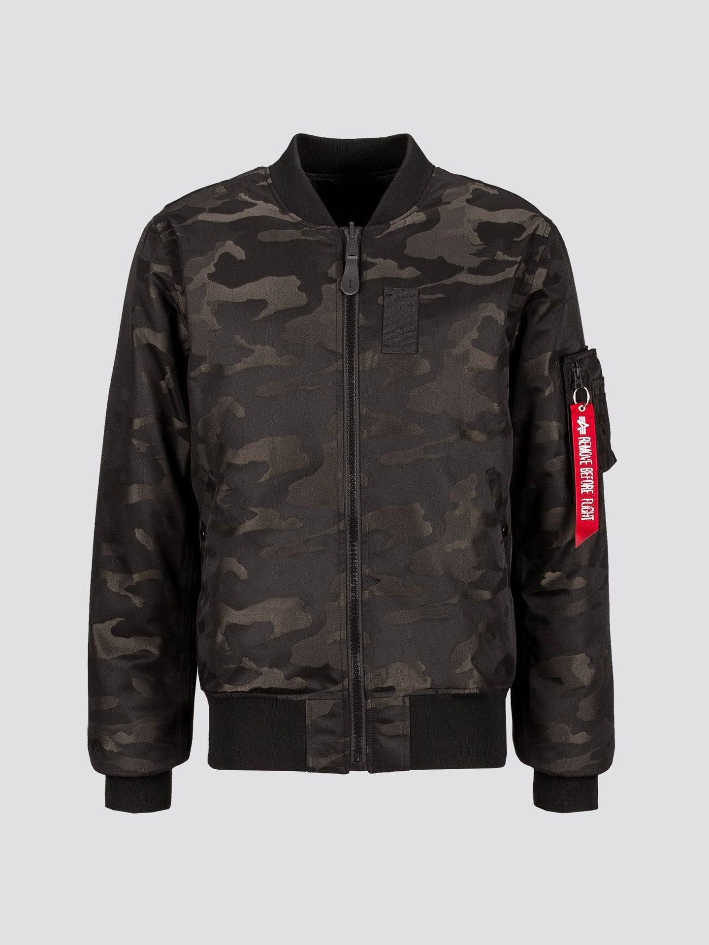 MA-1 DOWN JACQUARD BOMBER JACKET OUTERWEAR Alpha Industries BLACK CAMO 2XL
