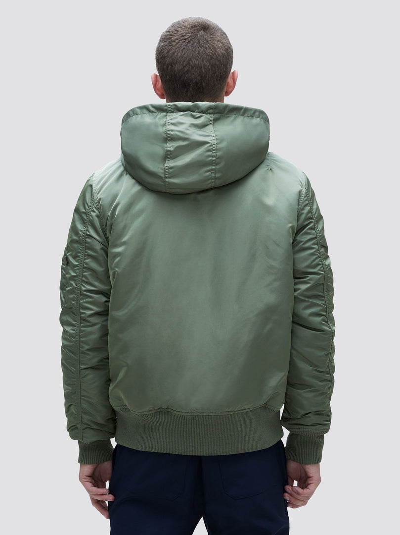MA-1 HOODED RIB BOMBER JACKET OUTERWEAR Alpha Industries