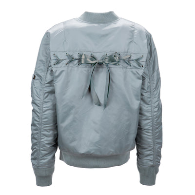 MA-1 LACED FLIGHT JACKET W SALE Alpha Industries SILVER BLUE L