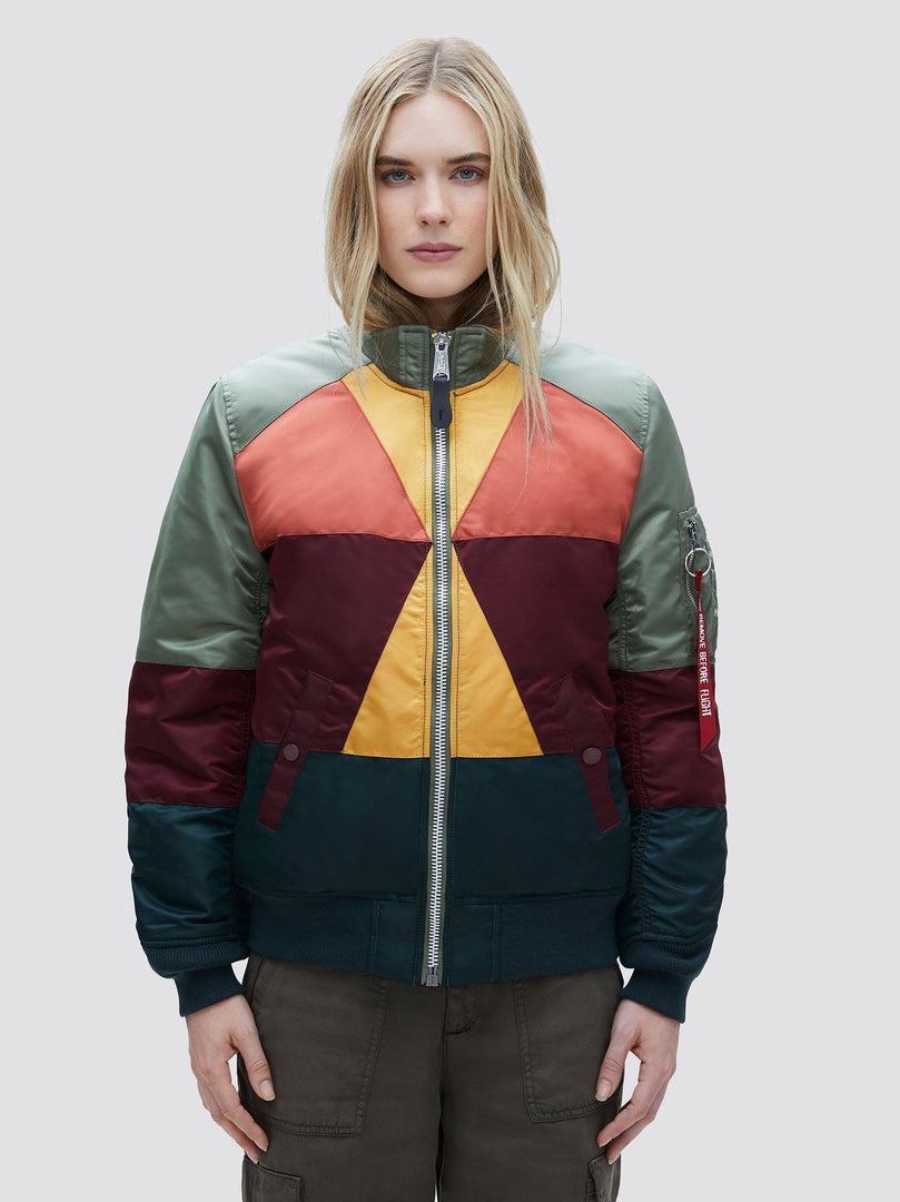 MA-1 MOSAIC BOMBER JACKET W SALE Alpha Industries MULTI COLOR L