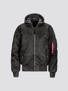 MA-1 NATUS BATTLEWASH BOMBER JACKET OUTERWEAR Alpha Industries NEW SILVER 2XL