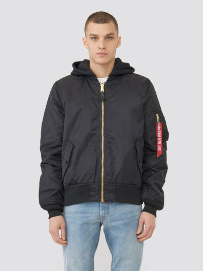 MA-1 NATUS BOMBER JACKET OUTERWEAR Alpha Industries BLACK/NEW SILVER LINING 2XL