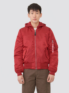 MA-1 NATUS BOMBER JACKET OUTERWEAR Alpha Industries COMM. RED/VNTG OLIVE LINING 2XL