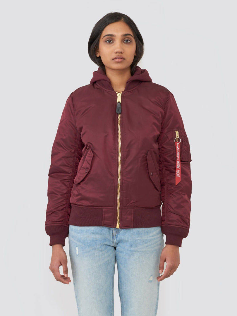 MA-1 NATUS W (SEASONAL) SALE Alpha Industries MAROON/MAUVE LINING XS