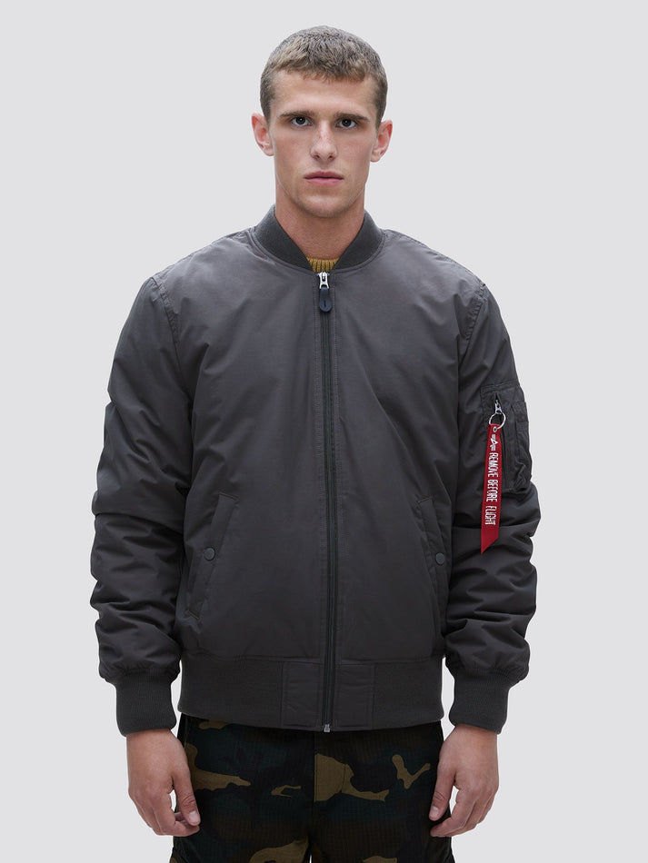 MA-1 PRIMALOFT BOMBER JACKET OUTERWEAR Alpha Industries REPLICA GREY 2XL