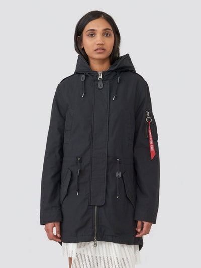 MERI FISHTAIL FIELD COAT W SALE Alpha Industries BLACK L