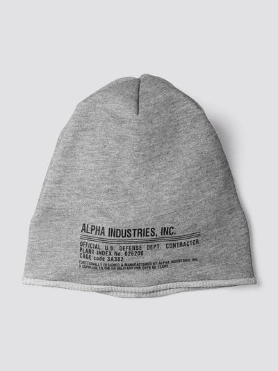 MIL LABEL REVERSIBLE BEANIE ACCESSORY Alpha Industries, Inc.
