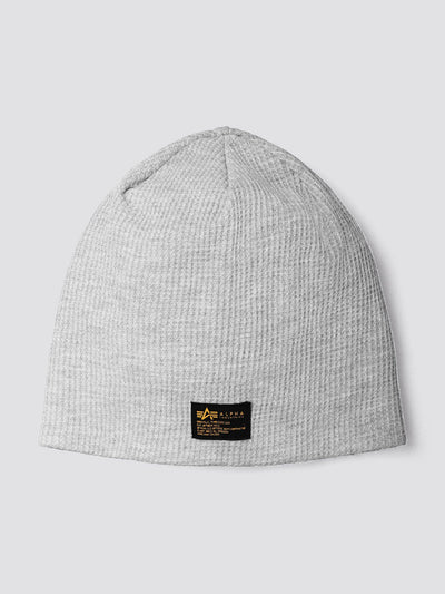 MIL LABEL REVERSIBLE BEANIE ACCESSORY Alpha Industries, Inc. MEDIUM CHARCOAL HEATHER O/S