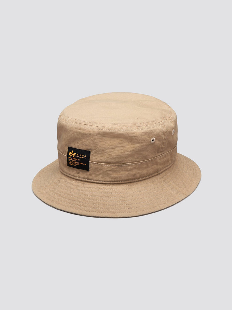 MILITARY BUCKET HAT ACCESSORY Alpha Industries, Inc. BEIGE O/S