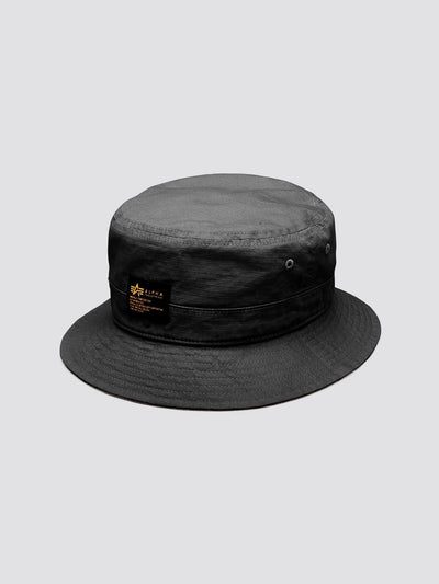 MILITARY BUCKET HAT ACCESSORY Alpha Industries, Inc. BLACK O/S
