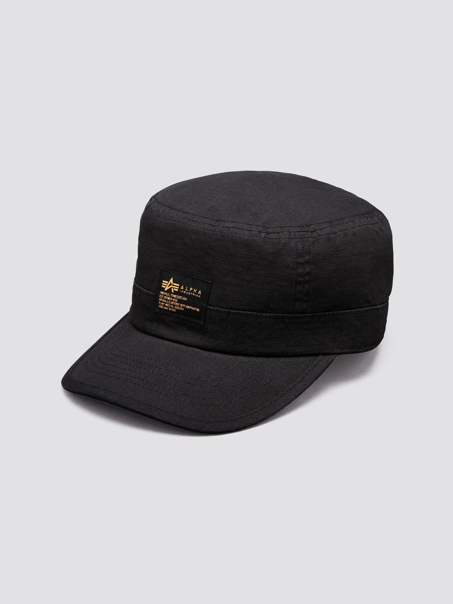 MILITARY FATIGUE CAP ACCESSORY Alpha Industries, Inc. BLACK O/S