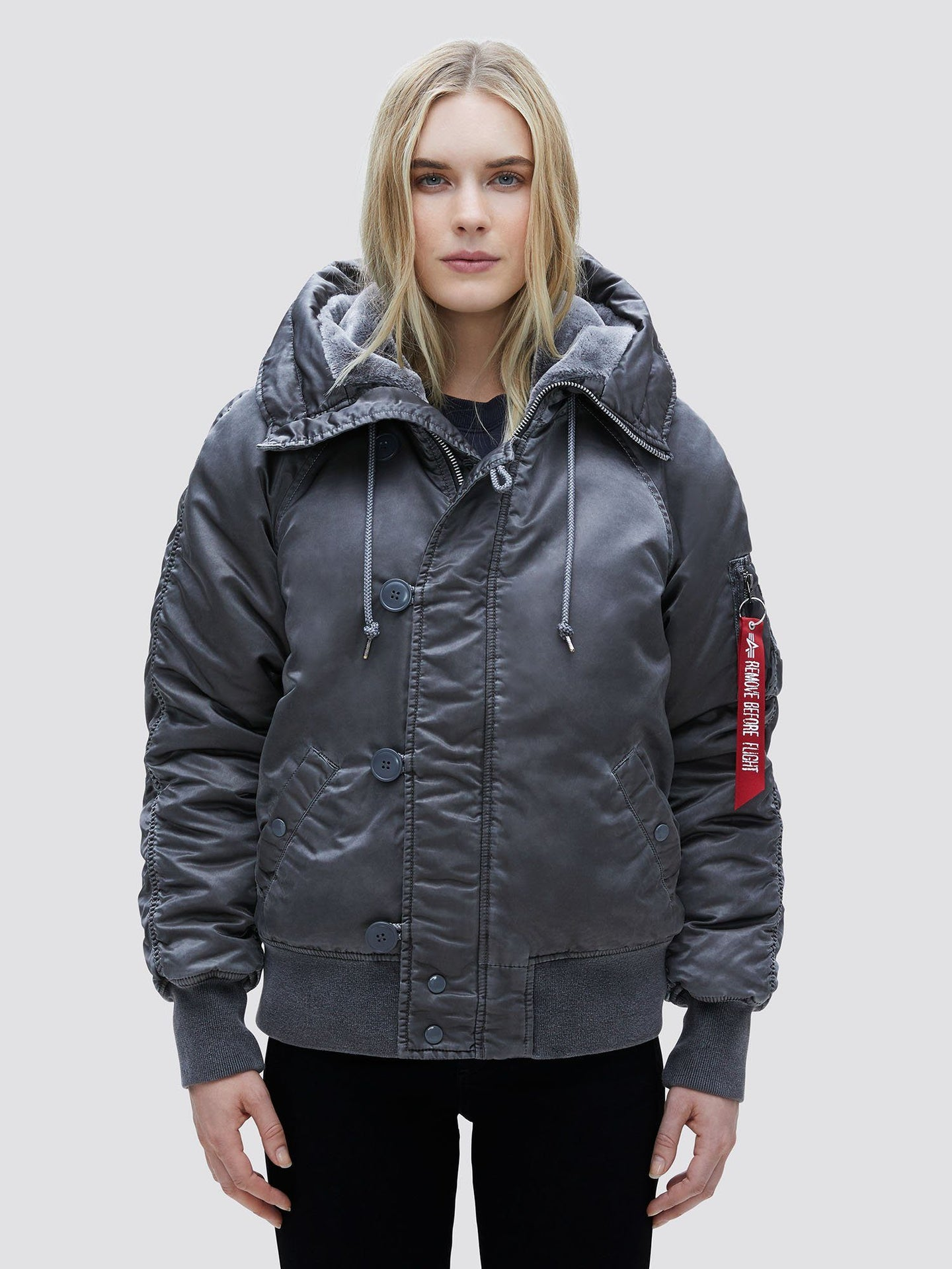 N-2B BATTLEWASH PARKA W OUTERWEAR Alpha Industries NEW SILVER L