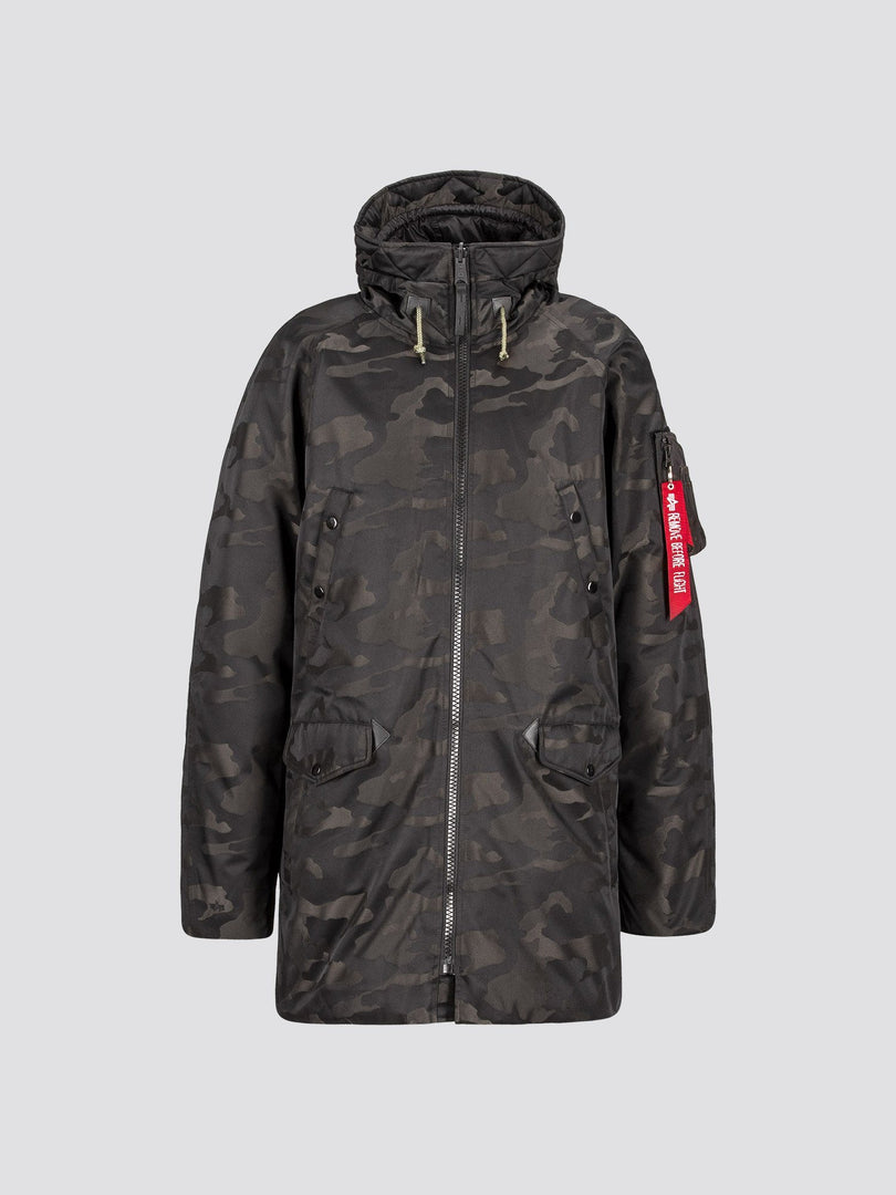 N-3B DOWN PARKA JACQUARD SALE Alpha Industries BLACK CAMO 2XL