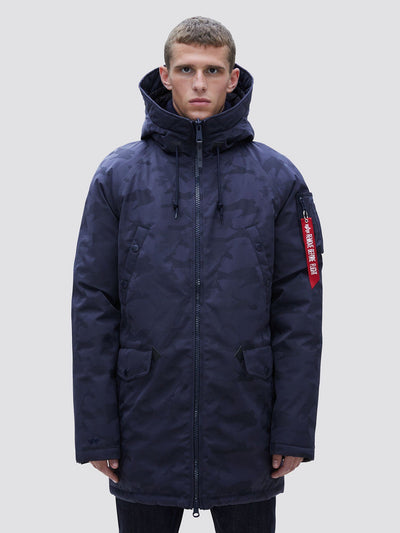 N-3B DOWN PARKA JACQUARD SALE Alpha Industries BLUE CAMO 2XL
