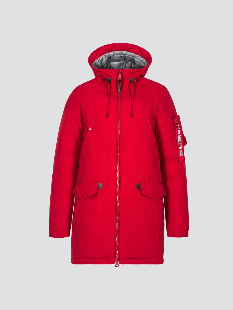 N-3B DOWN PARKA OUTERWEAR Alpha Industries COMMANDER RED 2XL
